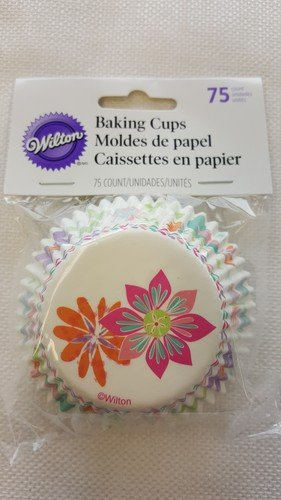 415-7909 Wilton Spring Flowers Baking Cups, 75-Count