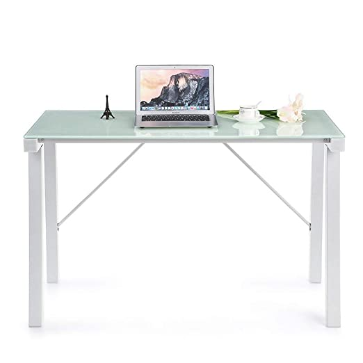 Diseño de Moda Mesa de Cristal Corner Desk PC Ordenador portátil ...
