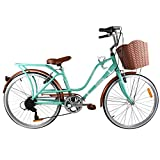 Paseo Bicicleta con PORTABULTOS Y REFLEJANTE Trasero Modelo Loving RODADA 24 6 VELOCIDADES
