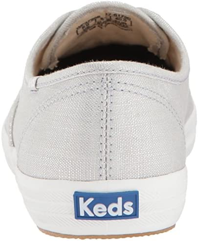 Keds Women's Champion Metallic Linen Sneakers Silver in size 39