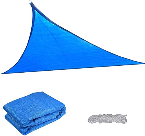 Yescom 16.5 Triangle Sun Shade Sail Patio Deck Beach Garden Yard Outdoor Canopy Cover Uv Blocking Blue