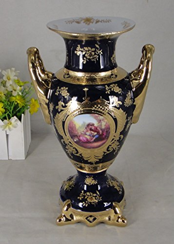 """Limoges Style 12"""" Table Vase in Romance Design"""