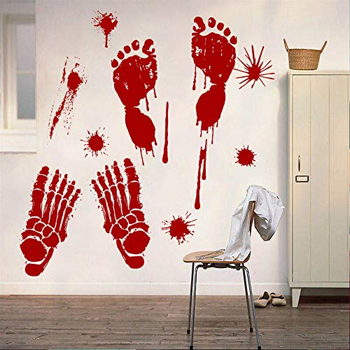 WUAI 2018 Hot New Wall Stickers,Halloween Decor Terrible Bloody Footprints Scary Vampire Home Household Room Decoration Floor Sticker -