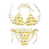 Sainfee Straps Sexy Bikini Swimwear Two-Pieces 3D