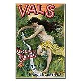 Source St. Pierre eue de Vals by L.Courchez, 22x32-Inch Canvas Wall Art