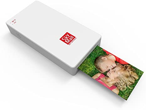 SkyMall Mobile Wi-Fi /& NFC Photo Printer with Dye Sublimation Printing Technology /& Photo Preservation Overcoat Layer Black
