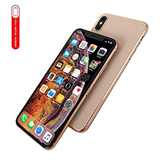 [Full Metal] Dummy Phone Display Model Compatible with Apple iPhone Xs MAX 6.5 inch Non-Working Upgraded Metal Frame (Gold Home Screen)