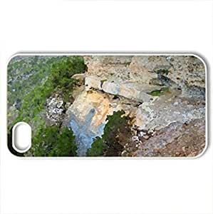 Big Bluff Trail..aka The Goat Trail along the Buffalo River - Case Cover for iPhone 4 and 4s (Mountains Series, Watercolor style, White)