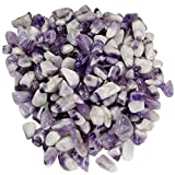 Hypnotic Gems Materials: 18 lbs Banded Chevron Amethyst Tumbled Stones from India - 1/2'' to 3/4'' Average - Bulk Natural Polished Gemstone Supplies for Wicca, Reiki, and Energy Crystal Healing