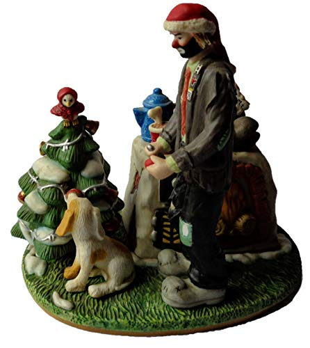 Clowns Figurines - Home Fires Burning, Full-Size Collectible Porcelain Sculpture by Emmett -