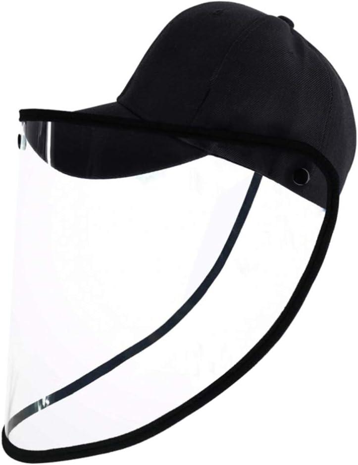 Yarnow Protector Facial - Anti-Escupir Anti-Salivasplash Protege Los Ojos Y La Cara con Protectores Protectores de Película Transparente de Seguridad (Negro)