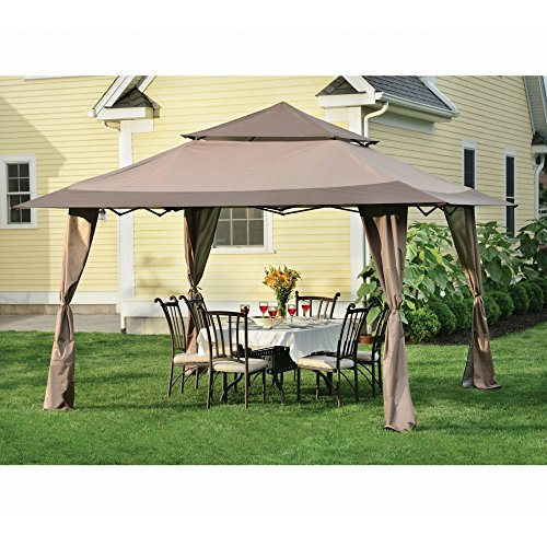 ShelterLogic ShelterLogic 13 x 13 Royal Pavilion Gazebo Canopy, Brown, Steel