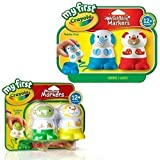 Crayola Washable Markers - 4 Pack. My First Crayola Toddler Toys! by Crayola