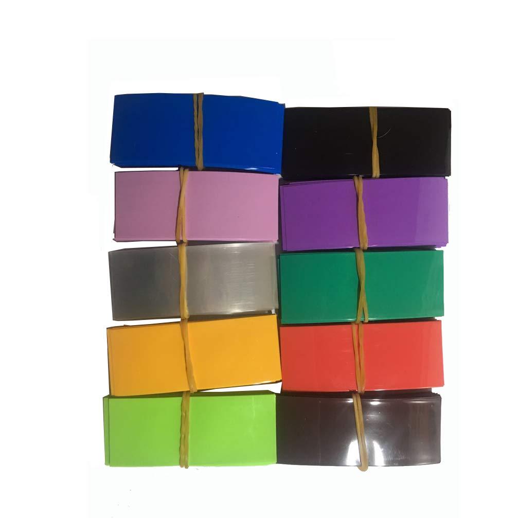 300Pcs 18650 Insulator Ring,300Pcs Colorful 18650 Battery Wrap Heat Shrink Tube Causin