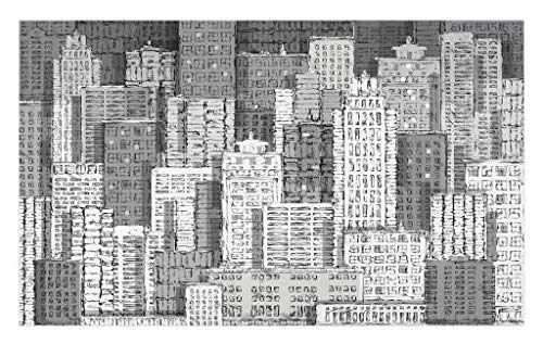 - Lunarable New York Doormat, High Buildings of Metropolitan Life Skyscrapers and Twin Towers, Decorative Polyester Floor Mat with Non-Skid Backing, 30