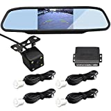 parking sensor white - CAR ROVER CCD Night Vision Waterproof Camera With 4.3 Inch LCD Mirror Monitor + 4 White Sensors Parking Sensor Kit