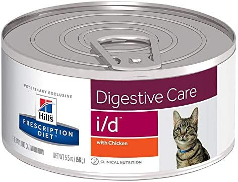 HILL S PRESCRIPTION DIET i d Digestive Care with Chicken Canned Cat Food, 5.5 oz, 24-Pack Wet Food, White