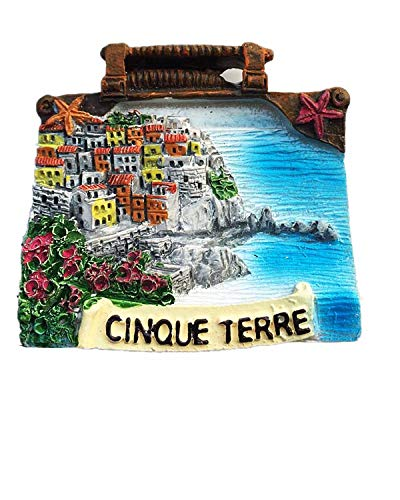 Cinque Terre Italy 3D Fridge Magnet Souvenir Gift,Home & Kitchen Decoration Magnetic Sticker Refrigerator Magnet Collection 2 ()