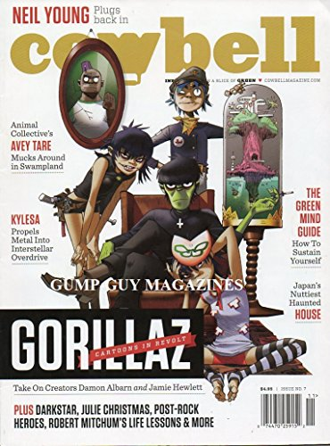 Cowbell No 7 GORILLAZ CARTOONS IN REVOLT: TAKE ON CREATORS DAMON ALBARN AND JAMIE HEWLETT (Songs Madness Christmas)
