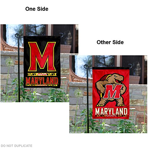 Maryland Terrapins Dual Logo Garden Flag