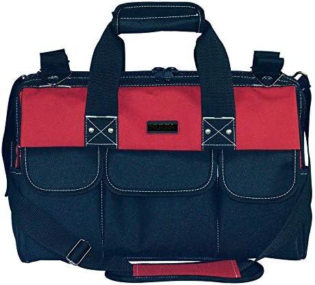 耐久性工具バッグ プロフェッショナルツール収納袋主催ホームDIY&設備ストレージツールマルチポケット 工具収納&仕分け管理&運搬用 (色 : 赤, Size : 17inch)