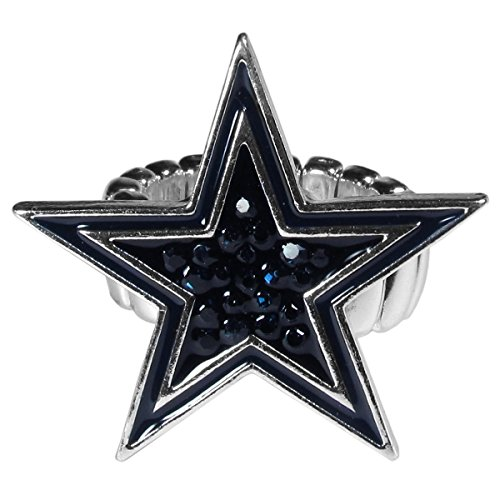 NFL Dallas Cowboys Womens Crystal Ring -