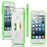 Apple iPhone 6 6s Thin Hybrid Transparent Clear Hard TPU Bumper Case Cover Ireland Irish Flag (Green)