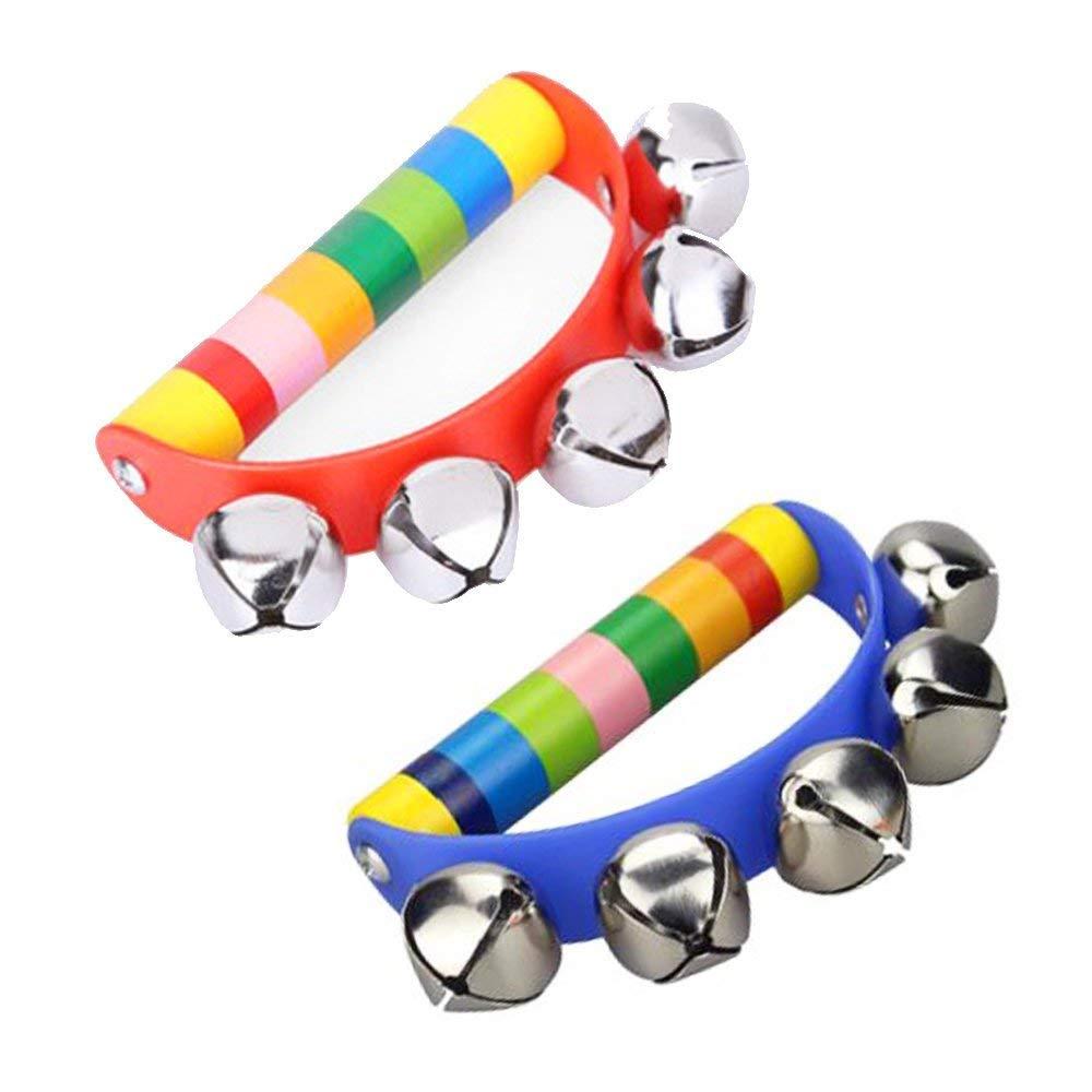 Metal Hand Bell Tambourine Kids Infant Toddler Rattles Musical Toy Preschool