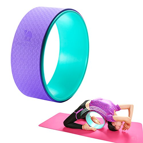 Camel 13 x 5 Dharma Yoga Wheel, Support Up to 600Ibs Plexus Wheel Roller for Back Pain, Stretching&Backbend (Purple)