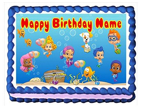 Bubble Guppies Edible Cake Topper Cupcake Topper - Customizable