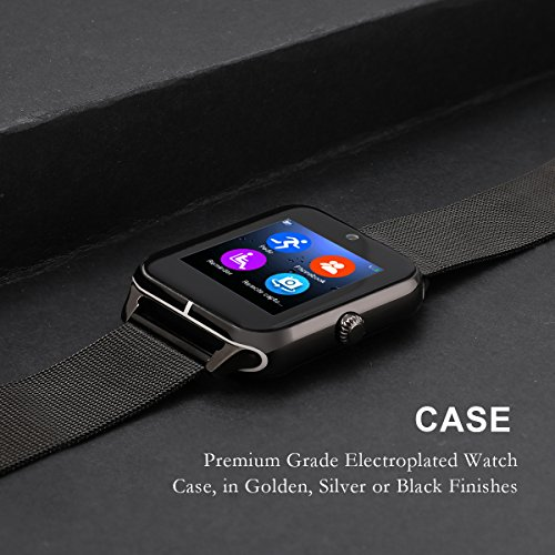 Amazon.com: Smartwatch, Collasaro Sweatproof Smart Watch Phone with Camera and SIM Card Slot, Smart Watch for Android Samsung LG Sony HTC Smartphones: Cell ...