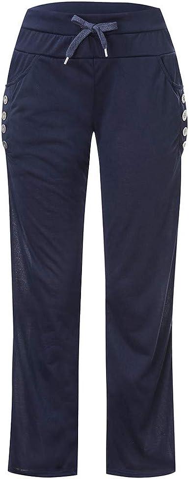Sylar Pantalones Mujer Deporte Talla Grande Moda Color Sólido ...