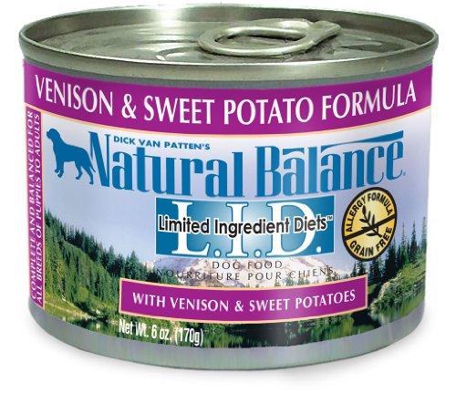 Natural Balance Venison Sweet Potato Formula Dog Food (Pack of 12 6-Ounce Cans), My Pet Supplies