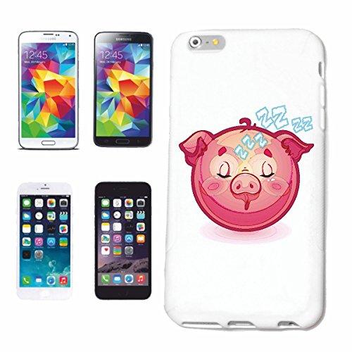 """cas de téléphone iPhone 7+ Plus """"SLEEPING PIG Glücksschwein SMILEY """"SMILEYS SMILIES ANDROID IPHONE EMOTICONS IOS grin VISAGE EMOTICON APP"""" Hard Case Cover Téléphone Covers Smart Cover pour Apple iPhon"""