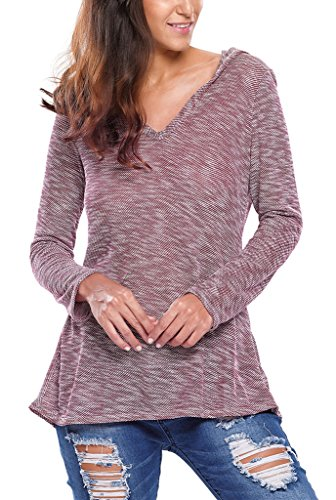 Dokotoo Womens Hooded Knitted Sweater