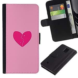 iBinBang / Flip Funda de Cuero Case Cover - Amo el rosa - Samsung Galaxy Note 4 SM-N910