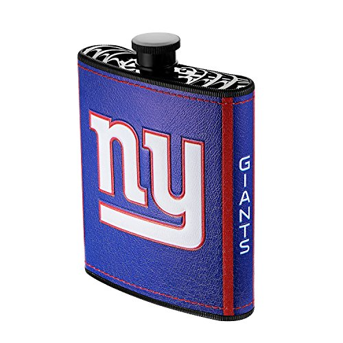 Pro Specialties Group NFL New York Giants Plastic Hip Flask, 7-Ounce