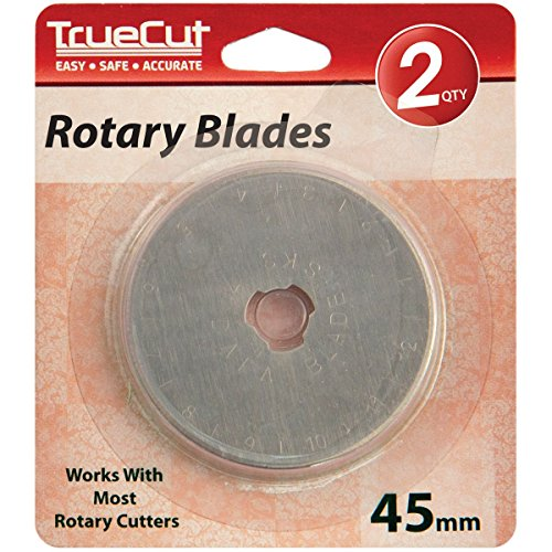 Grace Company TrueCut Rotary Cutter Replacement Blades, 45mm, 2/Pack by Grace Company