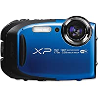Fujifilm FinePix XP80 Waterproof 16.0 MP Digital Camera with 2.7-Inch LCD (Blue) (International Model) No Warranty