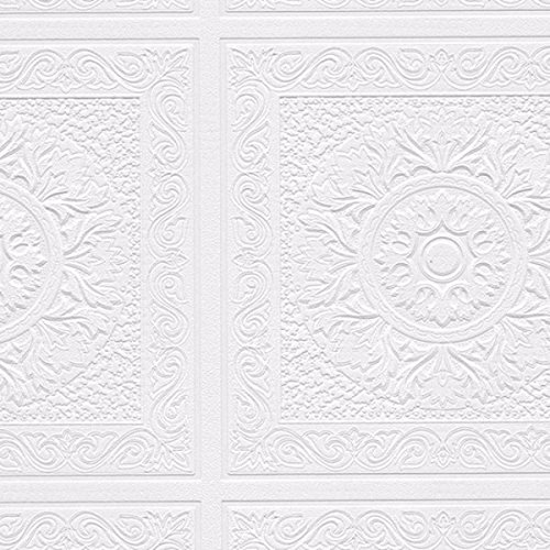 Comfort Isaac White Textured Paintable Peel-and-stick Wallpaper Roll ()