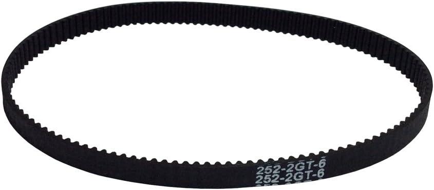 BEMONOC 2GT Timing Belt 252-2GT-6 Rubber Conveyor Belt L=252mm W=6mm 126 Teeth in Closed Loop for 3D Printer Pack of 10pcs