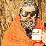 Bedsure Fleece Blanket Throw Blanket Orange