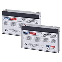 Power Patrol SLA0925 Replacement Batteries 6V 7Ah F1 - Set of 2