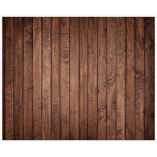 Allenjoy 10x8ft Fabric Vintage Brown Wood Backdrop for Newborn Photography Supplies Wedding Children Birthday Party Decorations Baby Shower Cake Smash Photographer Portrait Pictures Photo Booth Props