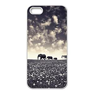 Elephant DIY Cover Case for Iphone 5,5S,personalized phone case ygtg525241