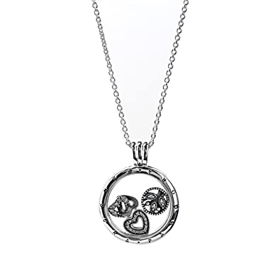 Pandora womens pendant petite memories locket necklace sterling pandora womens pendant petite memories locket necklace sterling silver and charms inside size m with pandora aloadofball Image collections
