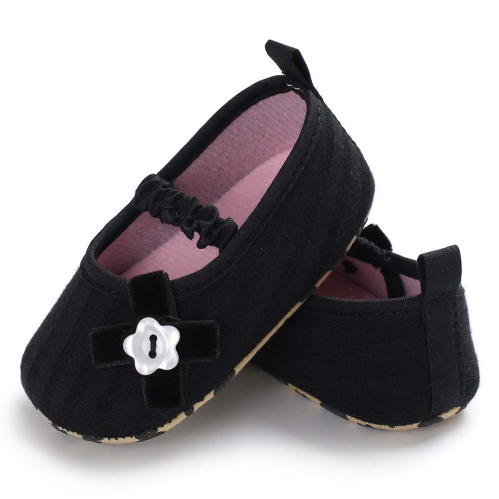 Spring Autumn Fashion Infant Baby Shoe Cute Girls Shallow Sole Toddler Crib Little Bow Soft Canvas Slip-On Footwear