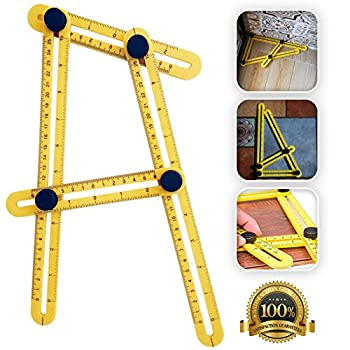 Angle-izer Tool by Saberline Easy MaxForm Multi Angle Measuring Template Ruler With Metal Knob And Durable Plastic