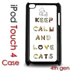 IPod Touch 4 4th gen Touch Plastic Case - Keep Calm and Cats
