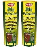 Preisjubel 2 x 500g Biotonnenpulver Mülleimer-Pulver, Vorbeugen gegen Maden Abfalltonne